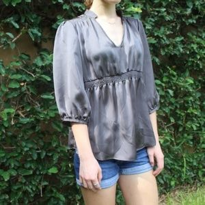 Zara Dark Gray 3/4 Sleeve Blouse